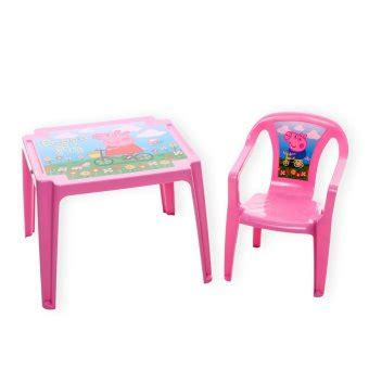 peppa pig table and chairs peppa pig plastic table chair lazada ph