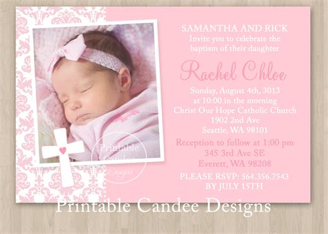 baptism photo card template free printable baptism invitations chivito s bautizo