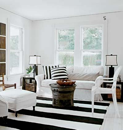 black and white living room rug black and white striped rug cottage living room