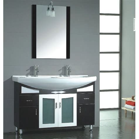 47 Inch Exum Vanity Space Saving Vanity Compact Double Space Saving Bathroom Vanities