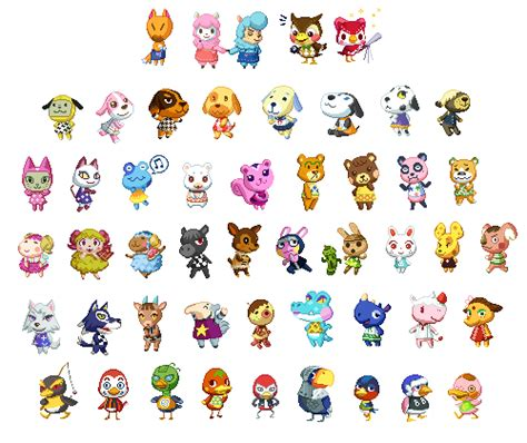 list of acnl characters genericnpc the second compilation of my animal crossing