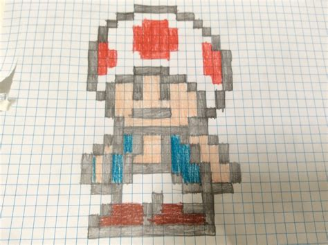 Paper Pixel Craft - toad mario pixel on paper by jonathanrune on newgrounds