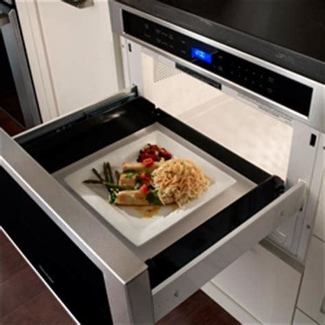 Thermador Microwave Drawer Reviews by Thermador Md24js 24 Inch Built In Microwave Drawer With 1 2 Cu Ft Capacity 950 Cooking Watts