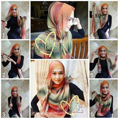 tutorial hijab pesta ultah cara memakai jilbab pashmina sifon pesta
