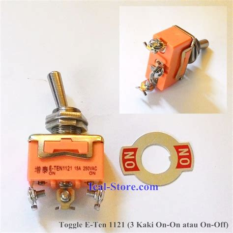 Saklar Switch On Kotak Besar Hijau 4 Pin toggle e ten 3 kaki 1121 on on atau on ical store