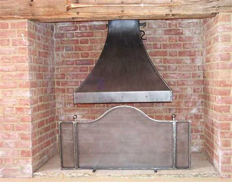 forge tenterden kent fireplace set comprising canopy and