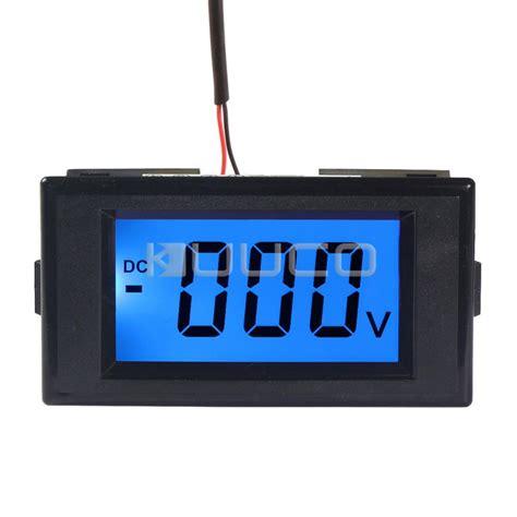 Best Quality Ac Digital Voltage Meter digital voltmeter dc 0 600v blue backlight lcd display volt meter ac dc 12v voltage meter