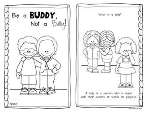 Be A Buddy Not A Bully Emergent Reader For Anti Bullying Coloring Pages For Kindergarten