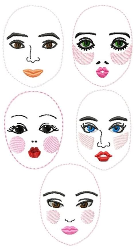 rag doll faces advanced embroidery designs rag doll set