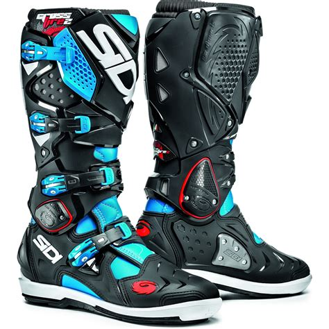 black motocross boots sidi crossfire 2 srs motocross boots dirt bike enduro moto