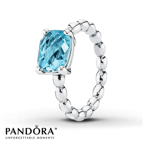pandora rings jared pandora ring blue topaz sterling silver