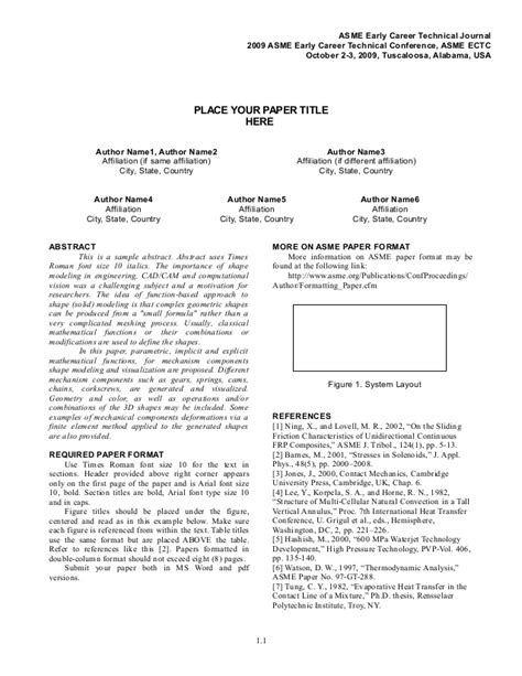 technical white paper template word asme paper format ectc2009