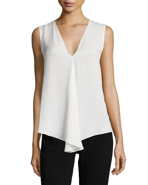 Theiry Top by Theory Meighlan Classic Silk Top In White Lyst