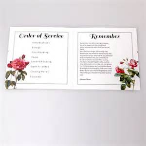 order of service funeral and funeral order of service on