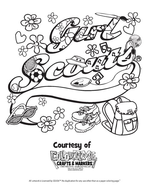 Daisy Girl Scouts Coloring Pages Free Coloring Home Free Scout Coloring Pages