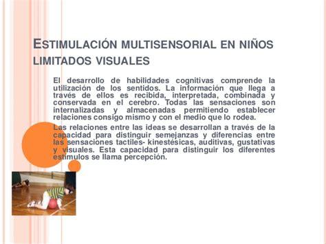 imagenes visuales y auditivas ejemplos estimulaci 243 n multisensorial en ni 241 os limitados visuales