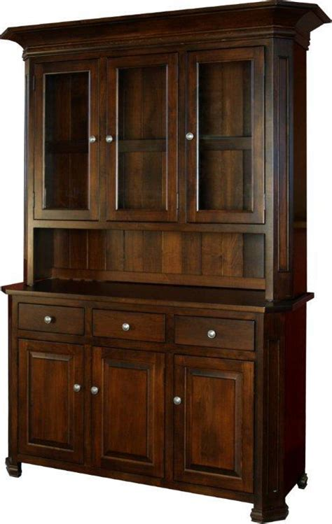 buffet hutch cabinet amish timber ridge hutch and buffet