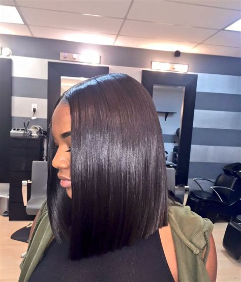 blunt cut bob hairstyle african american photos middle part blunt cut bob hair pinterest blunt cuts