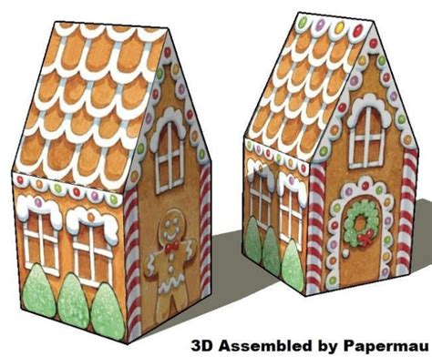 papermau time a gingerbread house paper model