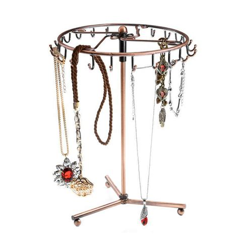 tree holder 23 hooks rotating jewelry tree holder organizer bracelet