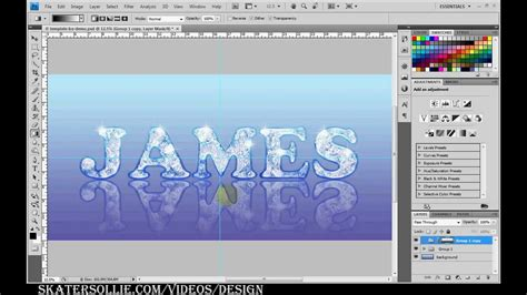 pattern maker photoshop cs4 ice type font design tutorial for adobe photoshop cs4