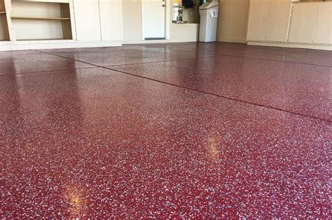 garage epoxy coating  decorative flakes  sealer