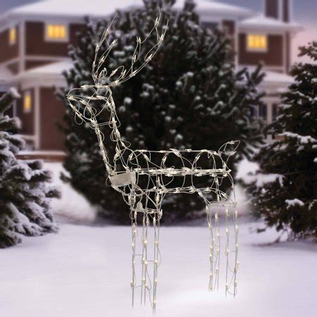 walmart decorative deer outdoor time 48 quot animated standing buck light sculpture decor walmart