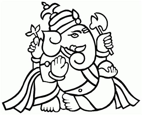 printable ganesh images ganesha sketches cliparts co