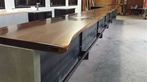 bar top edge custom made commercial live edge bar tops walnut cherry