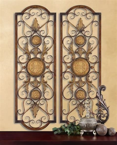 tuscan old world set of 3 large plaques with crosses set of 2 tuscan mediterranean wall grilles panels 3 1 2