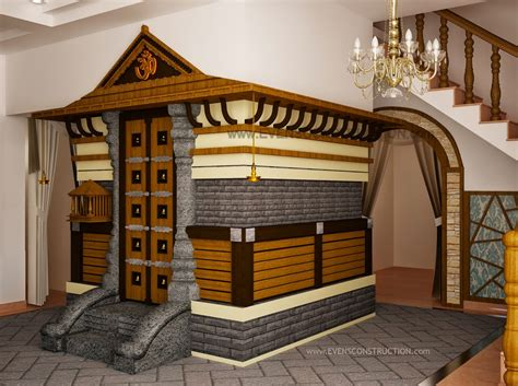 Home Temple Design Interior | kerala home interior designs pooja room design in home