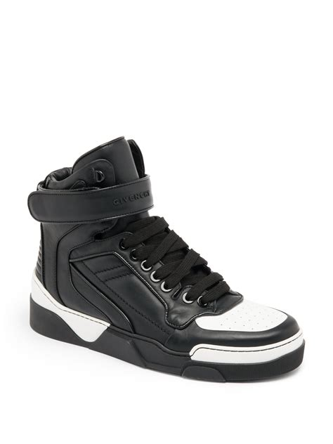 givenchy sneakers mens givenchy tyson leather high top sneakers in black for