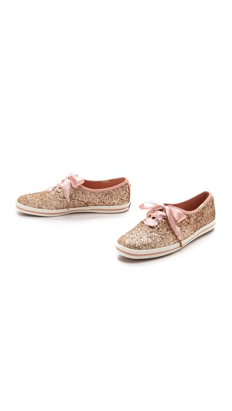 Keds Kate Spade Silver lyst kate spade new york keds for kate spade giltter