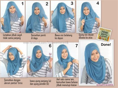 tutorial hijab pesta jilbab paris kreasi jilbab paris segi empat simple hairstylegalleries com
