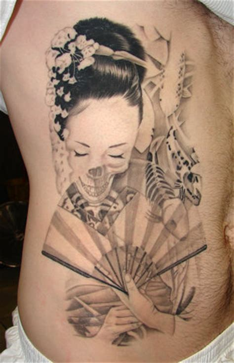geisha tattoo for men geisha samurai design for tattoos