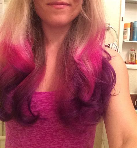 cranberry hair color bright colored ombre cranberry fade to purple by