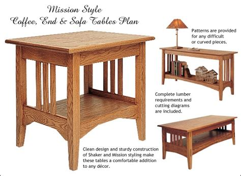 mission style furniture woodworking plans easy diy