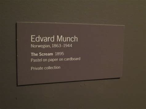 exhibit label template edvard munch quot the scream quot 1895 pastel on paper on