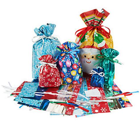 kringle express 52 piece e z drawstring holiday gift bag