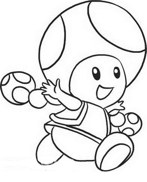 free coloring pages of and mario toad