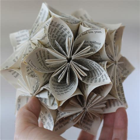 Book Paper Crafts - book page origami sphere