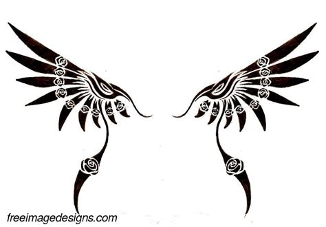 wings and roses image design free image tattoo designs