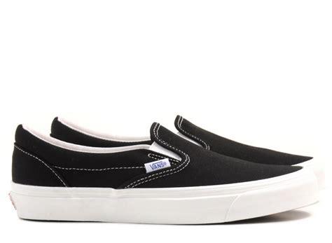 Vans Slip On Og Lx Black White Original vans vault og classic slip on lx canvas black novoid plus