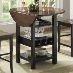 Counter Height Kitchen Tables With Storage Ridgewood Counter Height Drop Leaf Dining Table With Storage Black Kitchen Dining Room