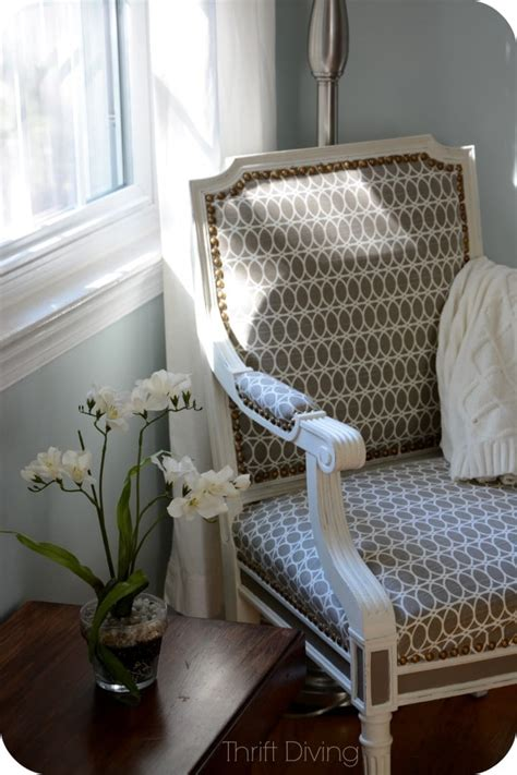 chair repair upholstery makeover when should you not paint wood furniture thrift diving blog