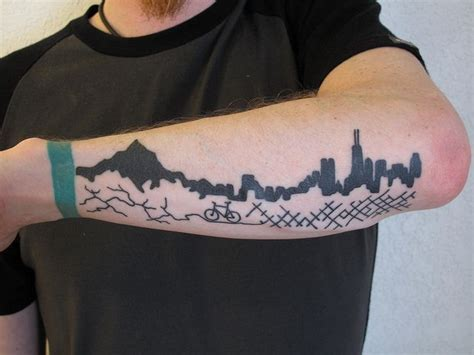 cycling tattoo bricks and dirt roads cycle tattoos