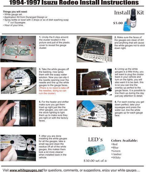 free service manuals online 1993 isuzu stylus instrument cluster service manual 2001 isuzu trooper dash removal diagram column shiffter cable service manual