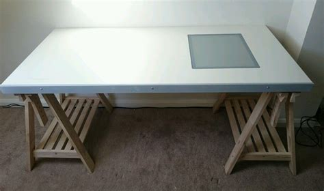 drawing desk with lightbox ikea drawing desk with legs and glass lightbox vika