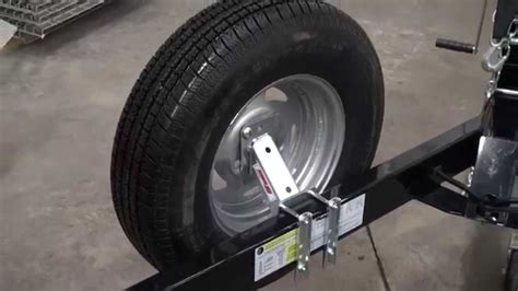 boat trailer spare wheel holder extreme max economy spare tire carrier youtube