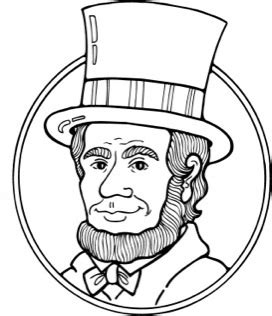 Black Of Abraham abraham lincoln clipart black and white letters